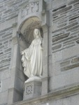 This status of Mary is from the original church, burned down in a fire in February, 1928.